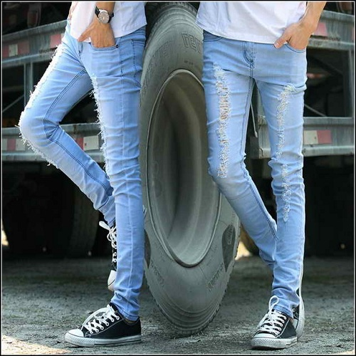 boys in blue jeans