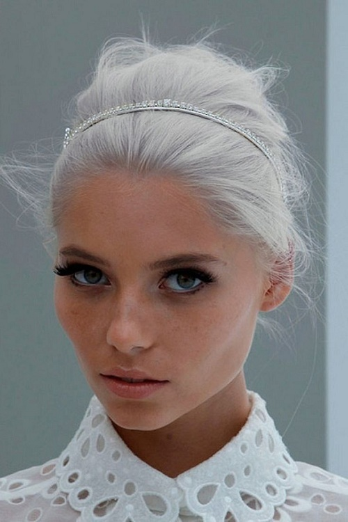 white hair color
